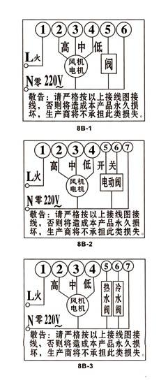 液晶温控器_wsk-8b风机盘管温控器
